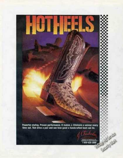 Hot Heels By J. Chisholm Handcrafted Boots (1991)