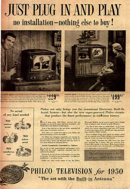 Philco's Television – Just Plug In And Play (1949)