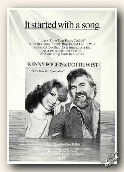 Kenny Rogers/dottie West Photo Ad Album Promo (1978)