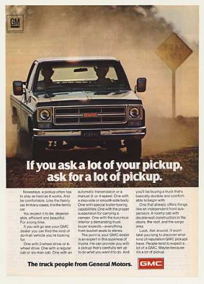 GMC Pickup Truck Ask a Lot Photo (1975)