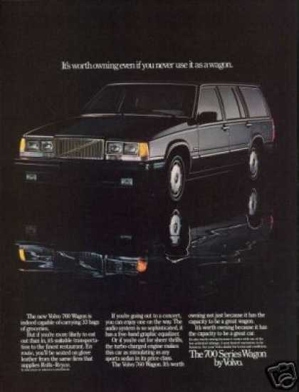 Black Volvo 760 Wagon Photo Car (1986)