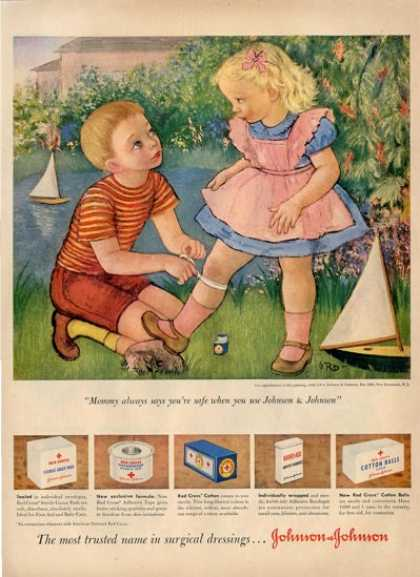 Gladys Rockmore Davis Art Children Play Nurse Ad T (1950)