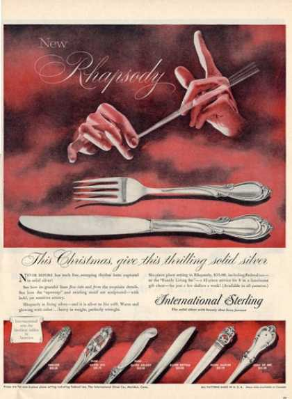 International Sterling Silverware Rhapsody Ad T (1956)