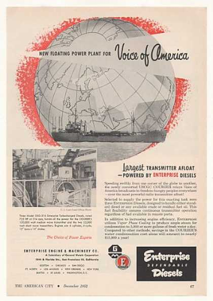 USCGC Courier Voice of America Ship Enterprise (1952)