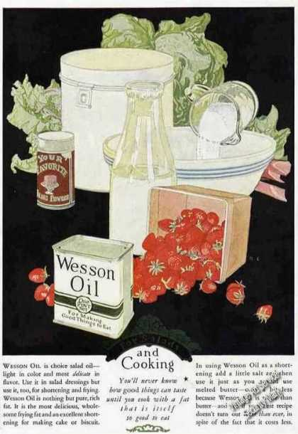 Wesson Oil Nice Antique Art (1924)