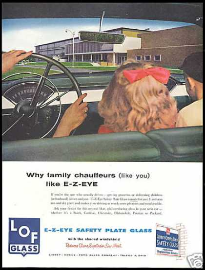 LOF Libbey Owens Ford Safety Glass (1956)
