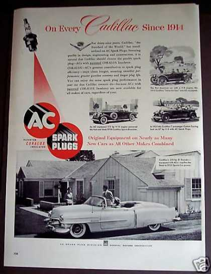 Ac Sparkplugs Cadillac Cars Autos Gm (1953)