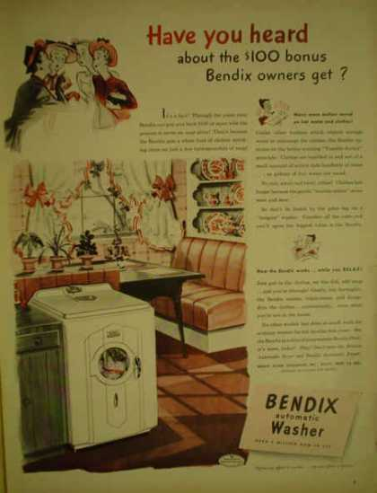 Bendix Automatic Washer clothing washer (1947)