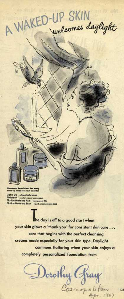 Dorothy Gray – A Waked-Up Skin welcomes daylight (1947)