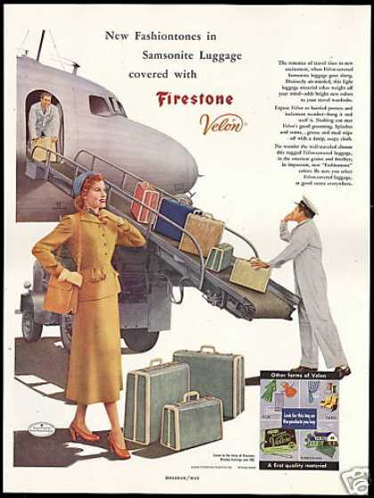 Samsonite Luggage Firestone Velon (1949)