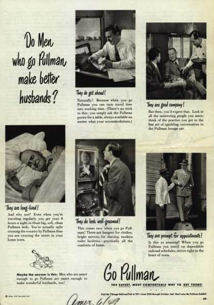 Pullman Company – Do Men who go Pullman make better husbands? (1949)