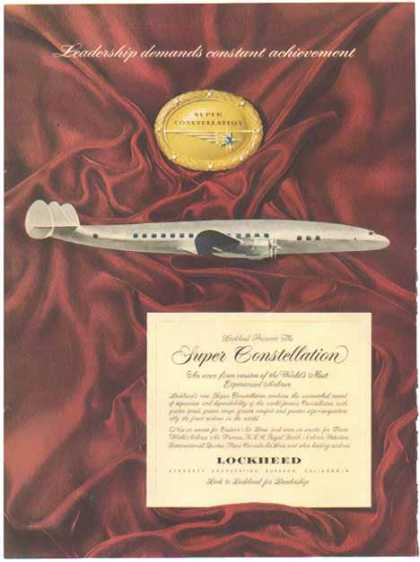 Lockheed Aircraft – The Super Constellation Plane (1951)