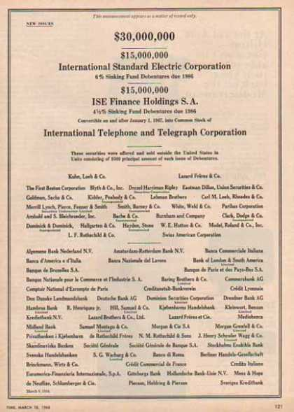 ITT – ISE Finance, Standard Electric Corporation (1966)