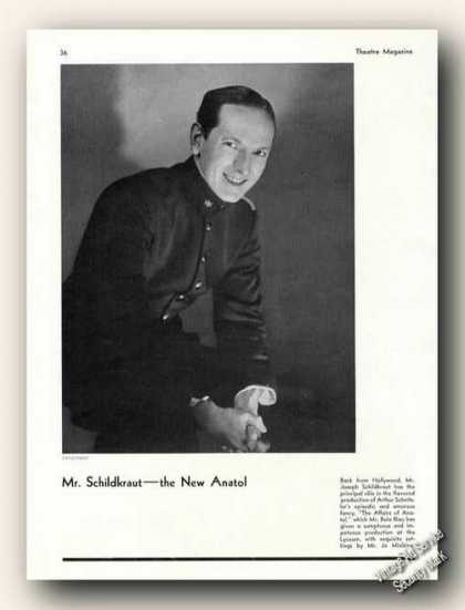 Joseph Schildkraut Photo By Vandamm Print Feature (1931)