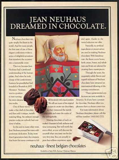Jean Neuhaus Belgian Chocolates Photo (1989)