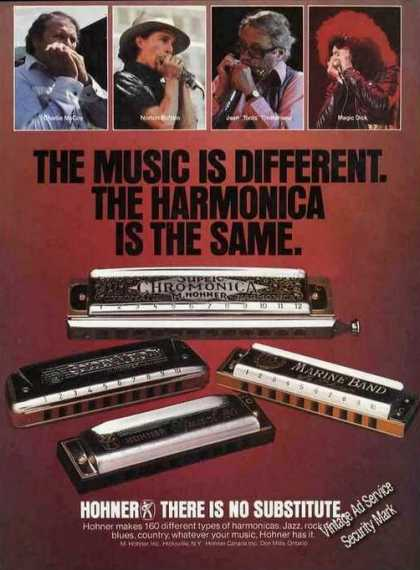 Music Is Different Harmonica the Same Hohner (1981)