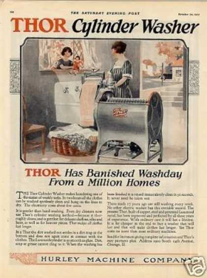 Thor Washer & Ironer Color Ad 2 Page (1925)