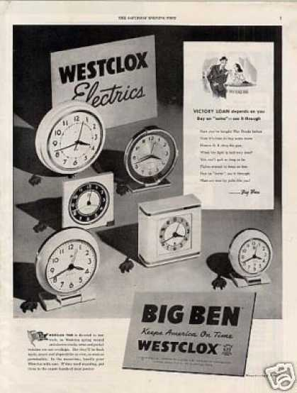 Westclox Big Ben Clocks (1944)