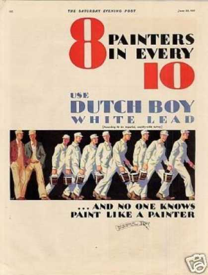 Dutch Boy Paint Color Ad 2 Page (1931)