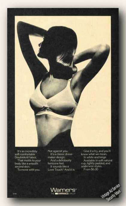 Warner's Love Touch Bra Sexy Lady Photo (1973)