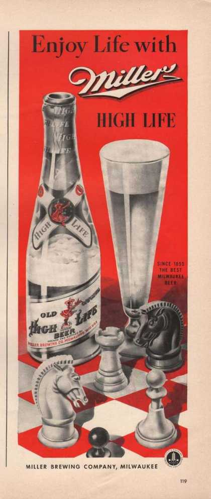 Enjoy Life With Miller High Life Beer (1942)