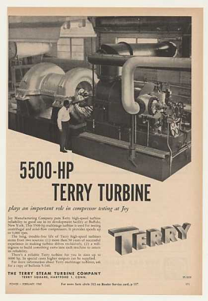 Joy Manufacturing Buffalo Terry 5500-HP Turbine (1960)