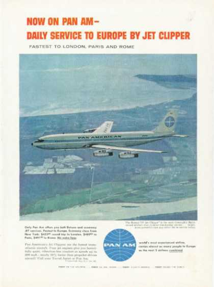 Pan American Airlines Jet Clipper 707 Plane (1958)