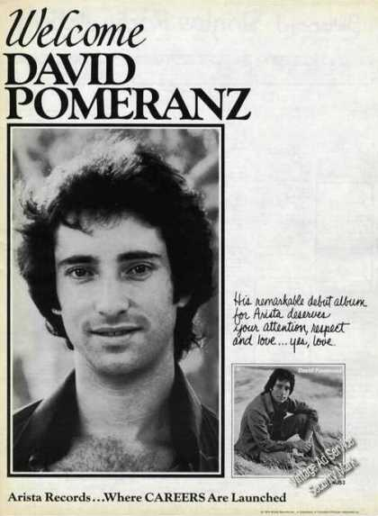 David Pomerantz Photos Rare Album Promo (1976)