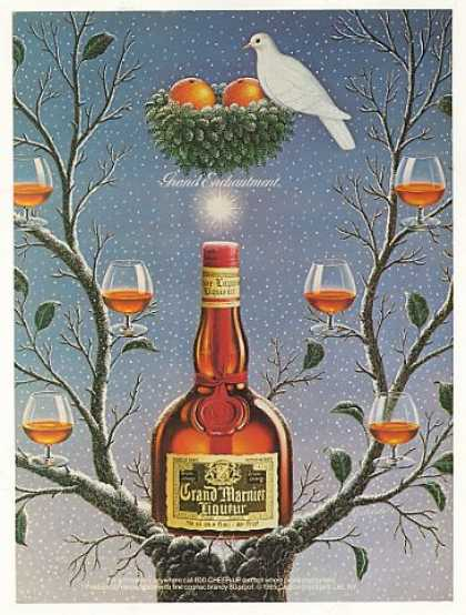 Grand Marnier Liqueur Dove Oranges Tree (1986)