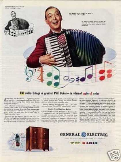 General Electric Radio Ad Phil Baker (1945)