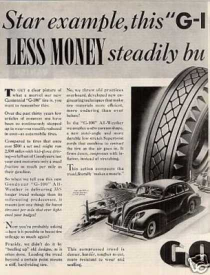 Goodyear Tire Ad 2 Page (1939)
