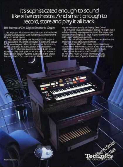 Technics Pcm Digital Electronic Organ Photo (1986)