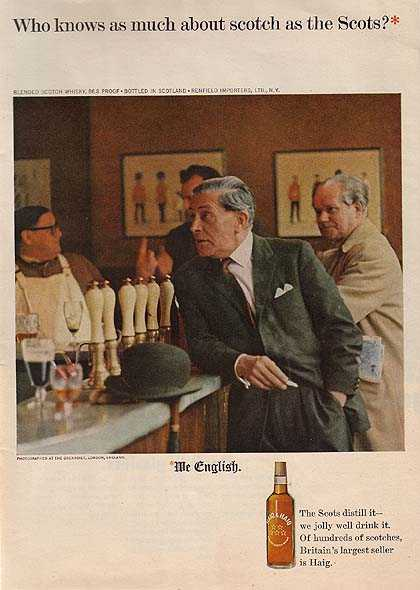 Haig & Haig's the Grenadier in London, England (1964)