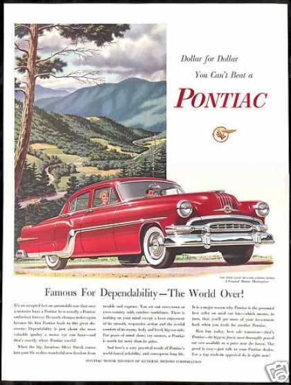 Pontiac Star Chief Deluxe 4 Dr Sedan Car (1954)