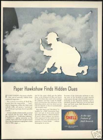 Sherlock Holmes Theme Hidden Clues Shell Oil (1949)