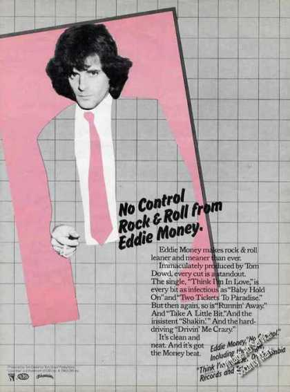 "Eddie Money ""No Control"" Collectible Music (1982)"