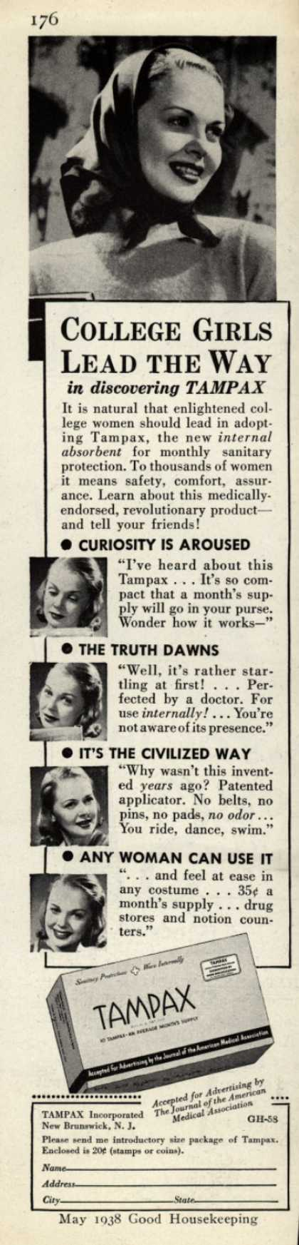Tampax's Tampons – College Girls Lead the Way (1938)