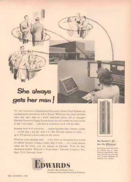 Edwards Communications and Protection – She always gets her man (1952)