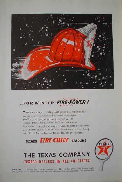 Texaco Fire Chief Gas Gasoline The Texas Company (1947)