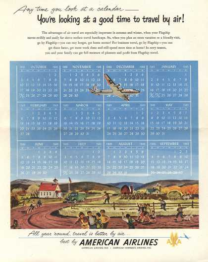 American Airlines – Any Time You Look At a Calendar – You're Looking at a Good Time to Travel by Air (1948)