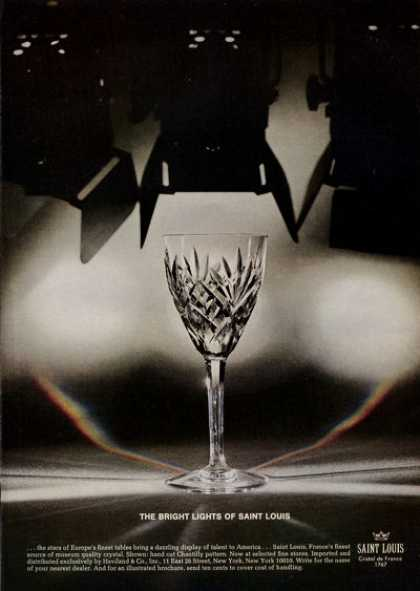 Saint Louis Crystal Chantilly Goblet Print (1971)