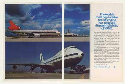 Northwest Orient DC-10 Pan Am 747 P & W JT9D 2P (1973)