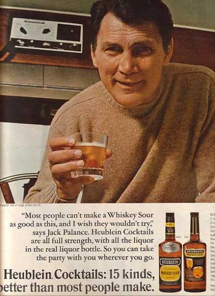 Whiskey Sour Cocktail Mix – Heublein (1967)