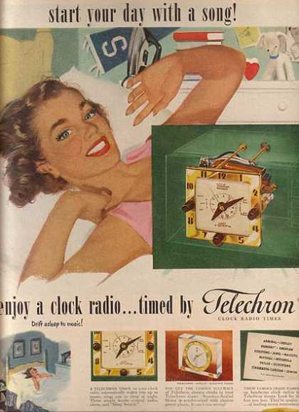 Telechron's Clock Timers used in Clock Radios (1951)