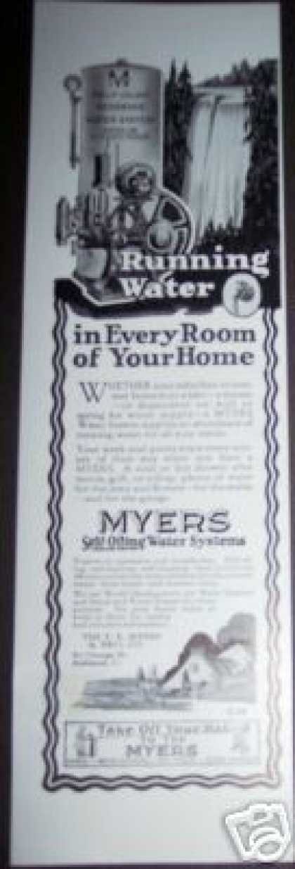 Original Myers Water Pump Systems (1926)