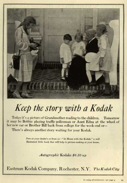 Kodak – Keep the story with a Kodak (1922)