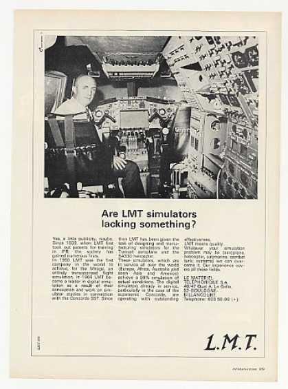 LMT Aircraft Flight Simulator Photo (1969)