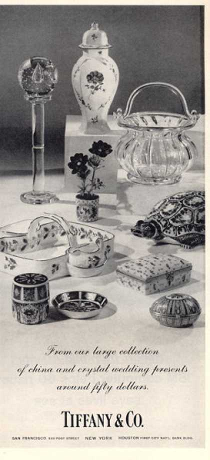 Tiffany China Crystal Wedding Gifts Print (1964)