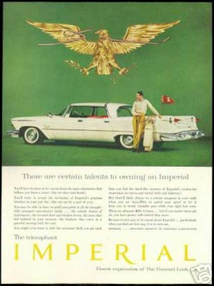 Chrysler Imperial 4dr Vintage Golf Theme Photo (1958)