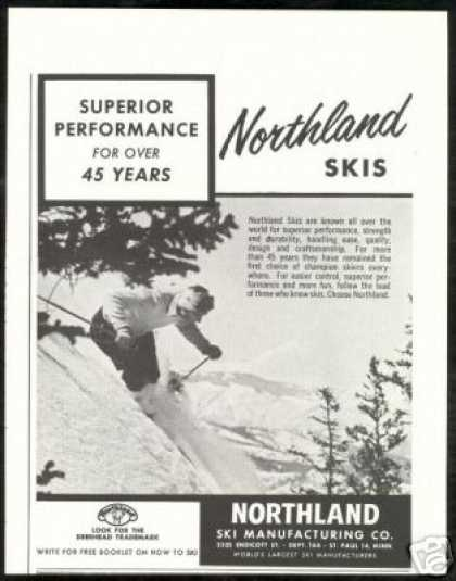 Northland Ski Manufacturing Skier Vintage Photo (1957)